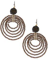 Nakamol | Graduating Beaded Circle Drop Earrings | Lyst