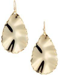 Panacea - Shiny Golden Teardrop Earrings - Lyst