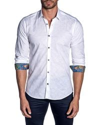 Jared Lang - Men's Semi-fitted Floral & Circle Print Woven Shirt - Lyst