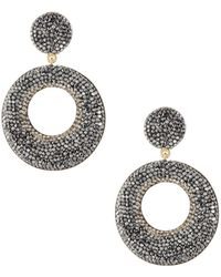 Native Gem - Mod Metallic Beaded Double-drop Earrings - Lyst