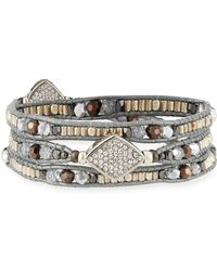 Nakamol Crystal Wrap Stretch Bracelet BW0jNPyHdB