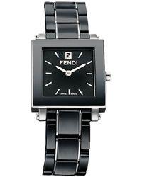 Fendi - Ceramic Quadro Watch - Lyst