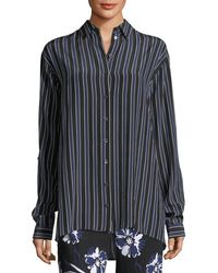 Michael Kors - Pajama Stripe Shirt - Lyst