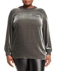 Lafayette 148 New York - Jansen Velvet Sweatshirt Top - Lyst