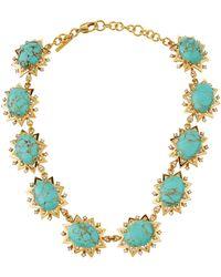 Lele Sadoughi - Sunshine Marble Statement Necklace - Lyst