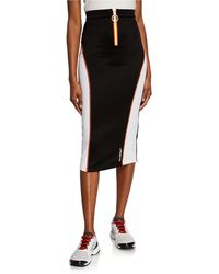 Off-White c/o Virgil Abloh - Bodycon Athleisure Colorblock Skirt - Lyst