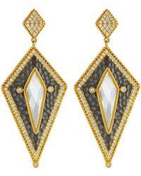 Freida Rothman - Arrow Shield Drop Earrings - Lyst