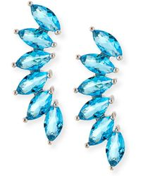 Fallon   Marquis Wing Climber Earrings   Lyst