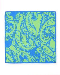 Bugatchi - Splatter Swirl Silk Pocket Square - Lyst