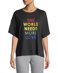 Peace Love World - Kenny Love Slogan Tee - Lyst