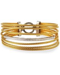 Alor - Seven-row Split Diamond Cable Bangle - Lyst