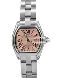 Cartier - Pre-owned Roadster Bracelet Watch W/ Pink Dial - Lyst