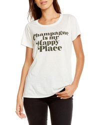 Chaser - Happy Champagne Cutout Tee - Lyst