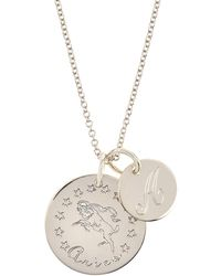 Emily & Ashley Sterling Silver Script Initial & Tree of Life Charm Necklace 0iI0U6R