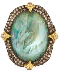 Armenta - Oval Crivelli Triplet Ring W/diamonds Size 6.5 - Lyst