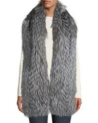 Gorski - Silver Fox Fur Feathered Boa - Lyst