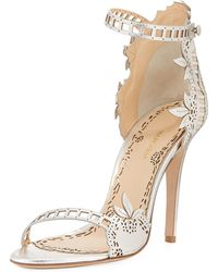 Marchesa - Margaret Etched Dress Sandal - Lyst