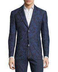 Robert Graham - Palm-leaf Jacquard Two-button Cotton-linen Sport Coat - Lyst