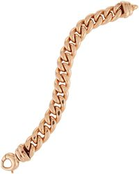 Roberto Coin - 18k Rose Gold Curb Chain Bracelet - Lyst
