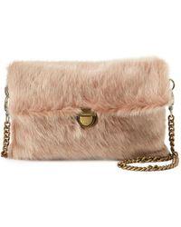 Evelyn K - Faux-fur Chain-strap Clutch Bag - Lyst