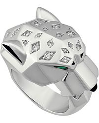 Cartier - Estate 18k Diamond Panthère Ring - Lyst