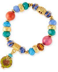 Jose & Maria Barrera - Stretch Bracelet W/ Flower Charm - Lyst