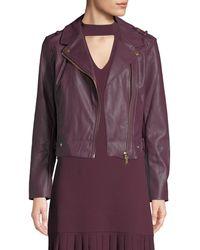 MICHAEL Michael Kors - Faux-leather Moto Jacket - Lyst