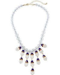 Fragments - Montana Clear & Pave Statement Necklace - Lyst