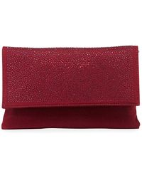 Neiman Marcus - Crystal-flap Flannel Clutch Bag On Chain Strap - Lyst