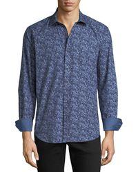 Bugatchi - Men's Shaped-fit Floral Woven Sport Shirt - Lyst