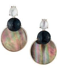 Ippolita - Wonderland Overlapping Shell & Stone Snowman Earrings In Moroccan Dusk - Lyst