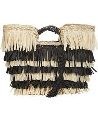 San Diego Hat Company | Crochet Paper Tote Bag With Fringe | Lyst