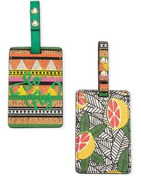 Neiman Marcus - Double Luggage Tag Set - Lyst
