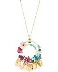 Fragments - Multicolor Flower Pendant Necklace - Lyst