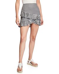 Lost + Wander - Day Trip Gingham Tiered Mini Skirt - Lyst