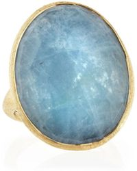 Marco Bicego - 18k Gold Oval Aquamarine Ring - Lyst