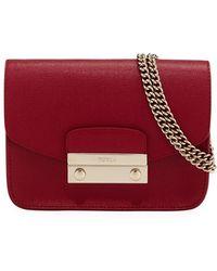 359c395a46ec Lyst - Furla Julia Mini Saffiano Leather Crossbody Bag in Pink