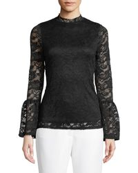Casual Couture - Lace Mock-neck Blouse - Lyst
