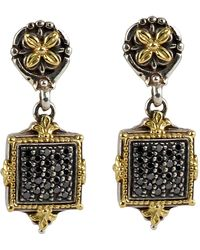Konstantino - Asteri Pave Square Diamond Square Double-drop Earrings - Lyst