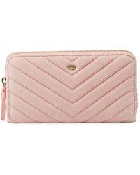 Juicy Couture - Zip-around Velour Wallet - Lyst