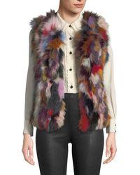 Neiman Marcus - Multicolored Fox Fur Vest - Lyst