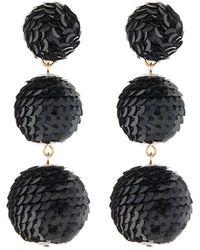 Kenneth Jay Lane | Wrapped Sequin Drop Earrings | Lyst