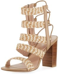 Charles David - Ella Zigzag Woven Caged Sandal - Lyst