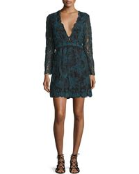 Tryb - Kateria Long-sleeve Lace Mini Dress - Lyst