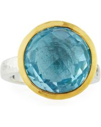 Gurhan - Galapagos Bezel Ring In Blue Topaz - Lyst