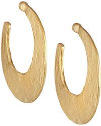 Stephanie Kantis - Crescent Hoop Earrings - Lyst
