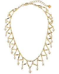 Nakamol Angular Bar Choker Necklace w/ Pearls BFC6OU
