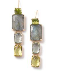 Ippolita - 18k Gold Rock Candy Gelato Multi-stone Drop Earrings In Aurora - Lyst