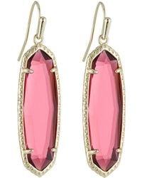 Kendra Scott - Layla Drop Earrings Berry Glass - Lyst