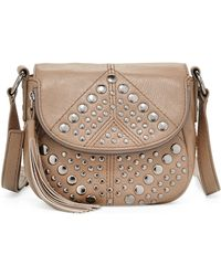 Isabella Fiore | Bellmore Studded Leather Crossbody Bag | Lyst